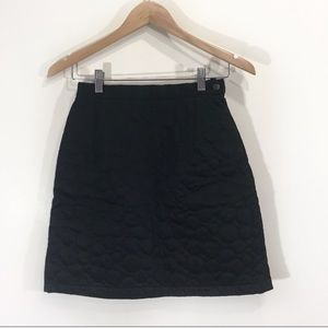 Kenzo Black Quilted Circle Bubble Mini Skirt Small